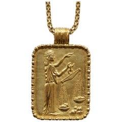 Fred of Paris Gold Libra Pendant