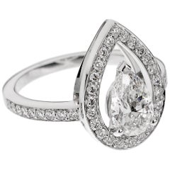 Fred of Paris Lovelight 1.48 Carat Pear Diamond Engagement Ring