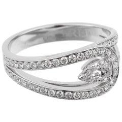 Fred of Paris Lovelight Pear Diamond Platinum Ring