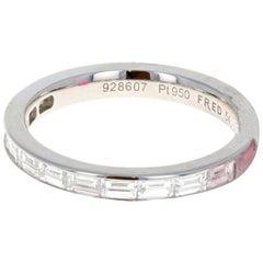 Fred of Paris Platinum Diamond Alliances Ring