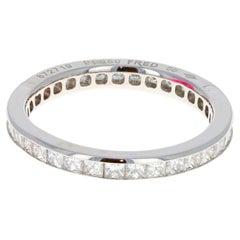 Fred of Paris Platinum Diamond Princess Cut Alliances Ring