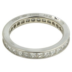 Fred of Paris Platinum Princess Cut Eternity Band