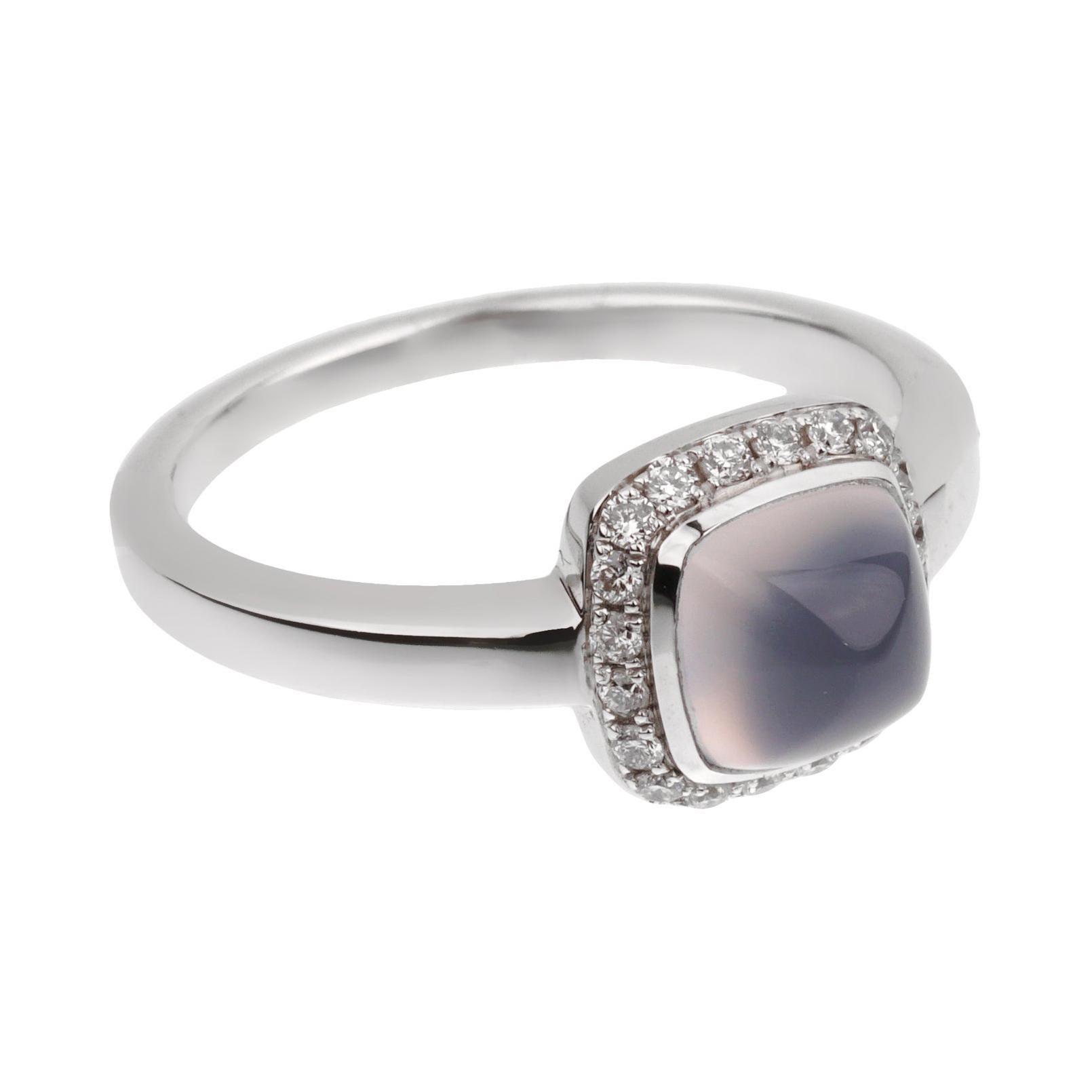 Fred of Paris Sugar Cube Chalcedony Diamond Ring