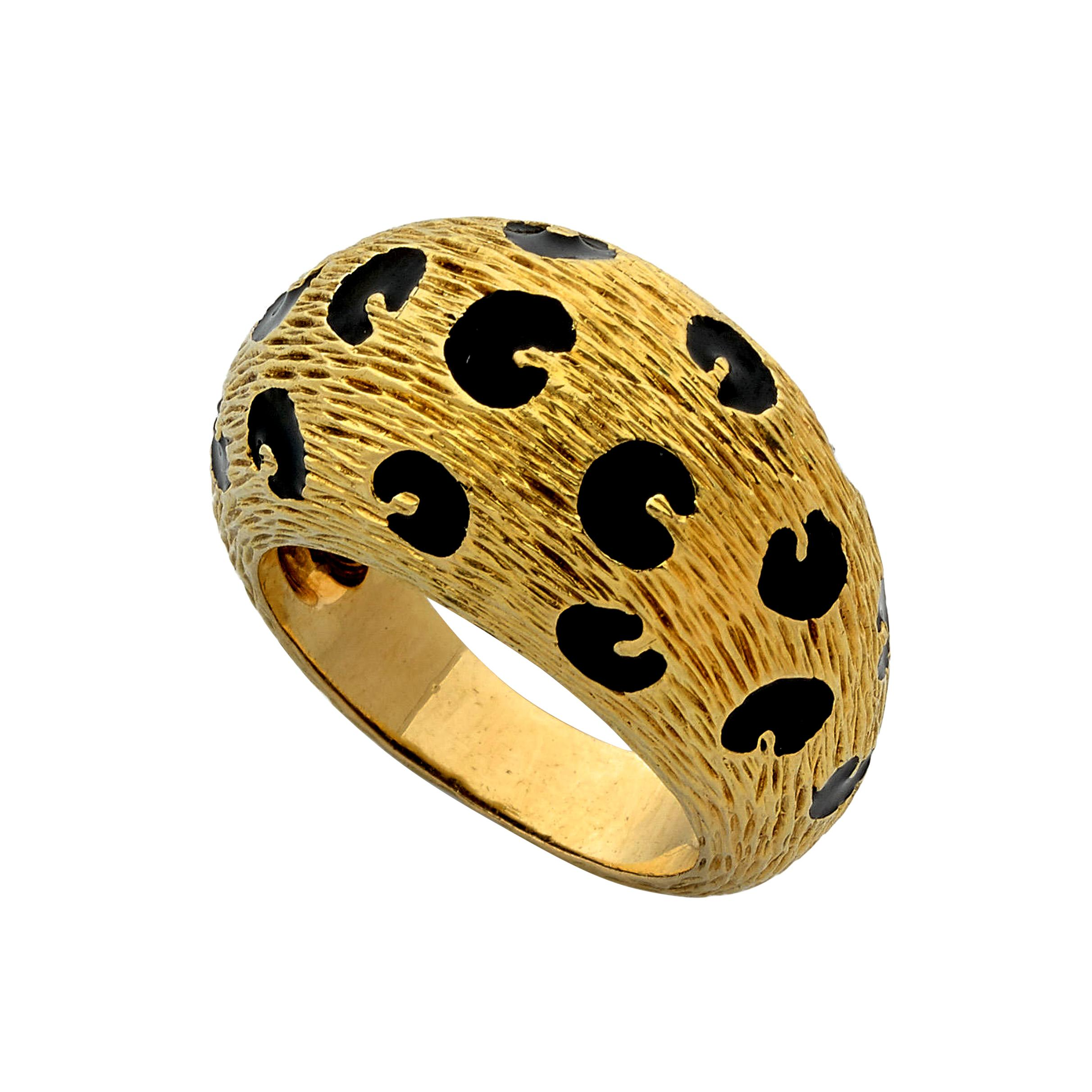 Fred of Paris Vintage Leopard Yellow Gold Ring