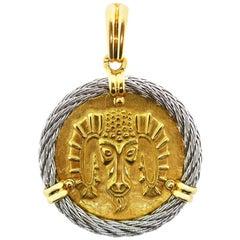 Fred Paris 18 Karat Yellow and White Gold Zodiac Aries Pendant