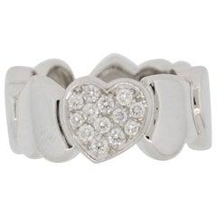 Fred Paris Diamond Gold Heart Band Ring