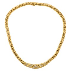 Fred Paris Diamond Gold Necklace