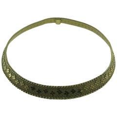 Fred Paris Georges Lenfant 18 Karat Yellow Gold Choker Necklace Retro and Rare