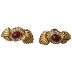 Fred Paris Ruby Diamond Earrings