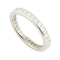 Fred Platinum Full Diamond Eternity Band Bridal Collection Ring 1.92 Carat