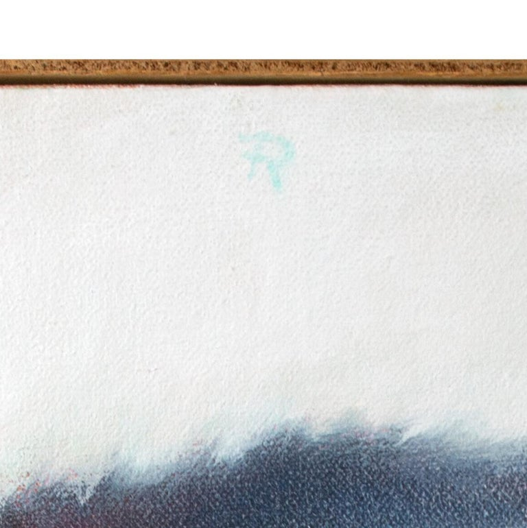 'Black Mat' original signed alkyd on canvas painting of white cat sleeping - Painting by Fredrick Reichman