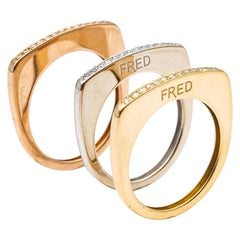 Fred Success Skinny Gold 18 Carat Diamond Ring