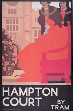 Hampton Court 1929 London Transport Original Poster Fred Taylor