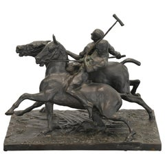 "Fred Voelckerling Bronze Sculpture of ""Polo Players"", 1919"