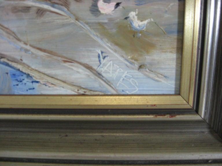 Fred Yates Cornish Village Scene, Oil on Board For Sale 4