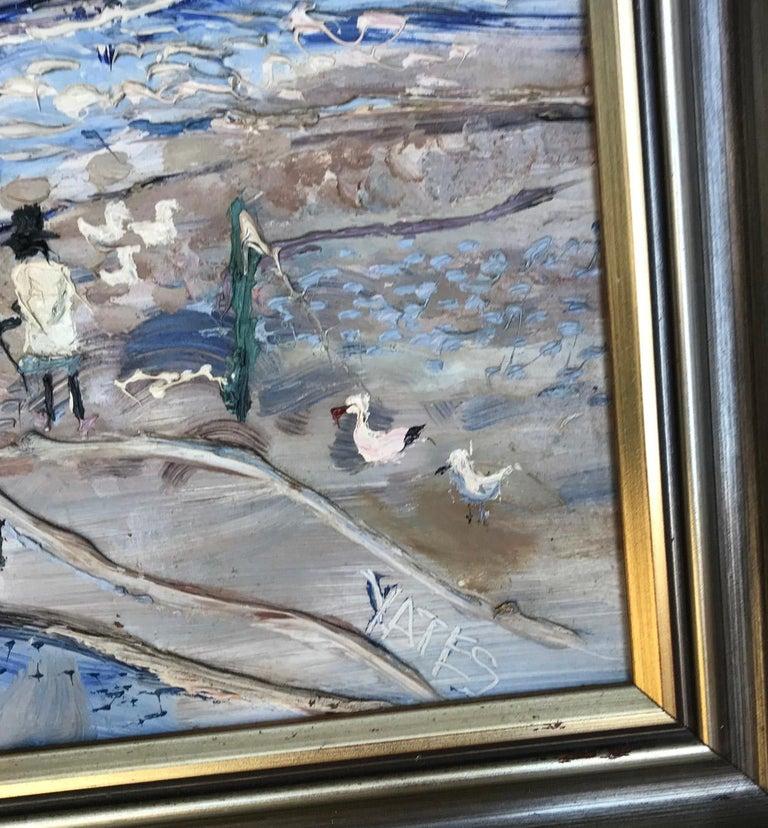 Fred Yates Cornish Village Scene, Oil on Board For Sale 3