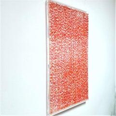Farbenlichthaut no. 143 - contemporary modern organic sculpture painting relief
