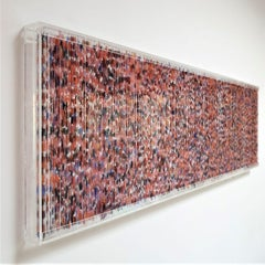 Farbenlichthaut no. 150 - contemporary modern organic sculpture painting relief