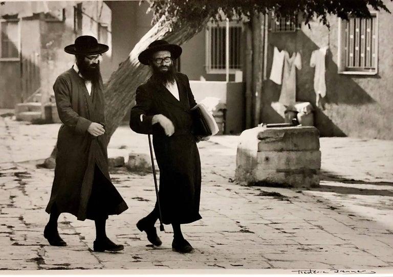 Frederic Brenner Black and White Photograph - Dans le Quartier Hongrois de Mea Shearim, Jerusalem Vintage Silver Gelatin Print