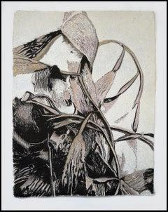 Alga Aligata No. 2- seaweed kelp oceanic abstracted work on paper