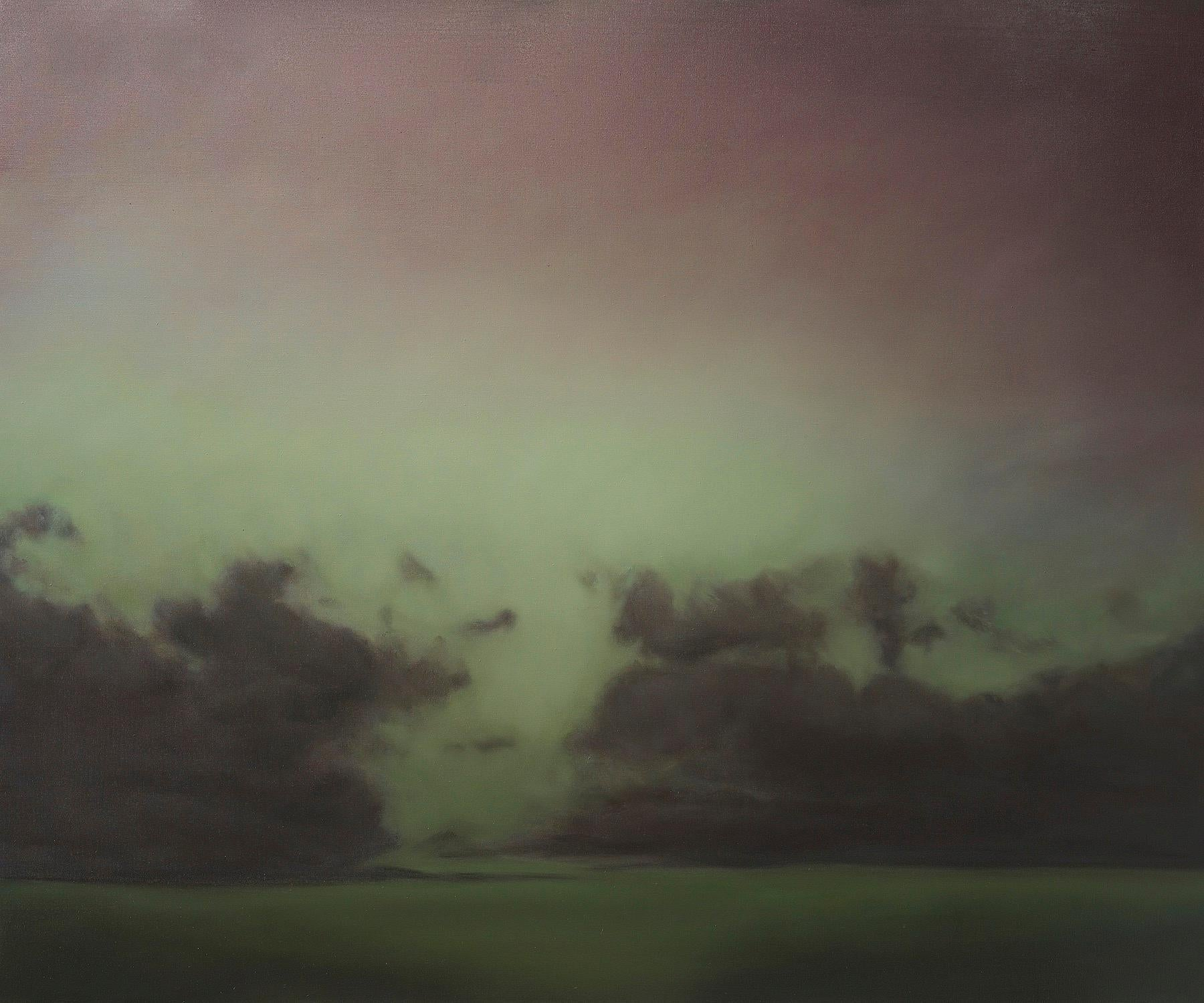 ANNONCIATION  / Oil on Linen abstract realism sky clouds