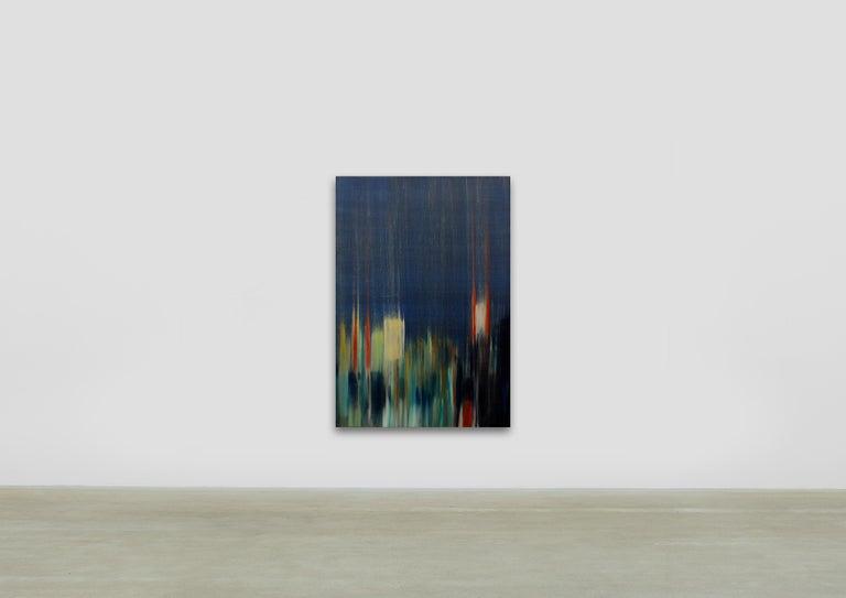 Bruit dans la Ville I  /  oil on linen over panel - Painting by Frédéric Choisel