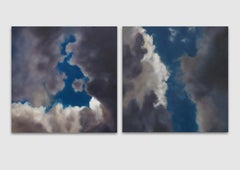 Ether Sans Oiseaux I & II (Ether without Birds) Oil on Linen diptych - CLOUDS
