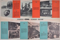 FHK Henrion Original Poster Where Coal Comes From HMSO Ministry of Fuel & Power