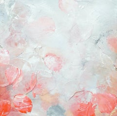 Blooming Dew IV - blossom, abstract, contemporary art, 21st, rosé, flowers, rose
