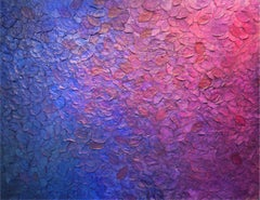 Bloomy Munduk by Frederic Paul, Textured Purple Modern Contemporary Painting