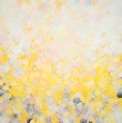 Longing for Sun II - abstract art, contemporary art, modern, yellow, rose, Natur