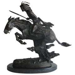 """Frederic Remington """"The Cheyenne"""" Bronze Sculpture Limited Edition #51/100"""