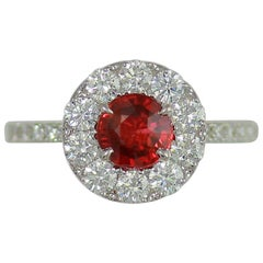 Frederic Sage 1.26 Carat Ruby and Diamond Cocktail Engagement Bridal Ring