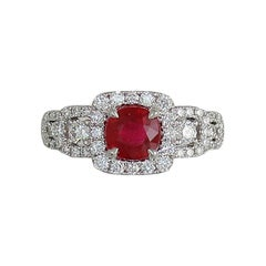 Frederic Sage 1.38 Carat Ruby and Diamond Ring