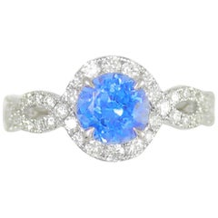 Frederic Sage 1.64 Carat Tanzanite White Diamond Engagement Bridal Cocktail Ring