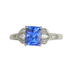 Frederic Sage 1.73 Carat Tanzanite and Diamond Bridal Engagement Cocktail Ring