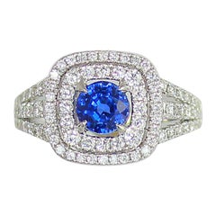 Frederic Sage 1.85 Carat Sapphire and White Diamond Cocktail Ring