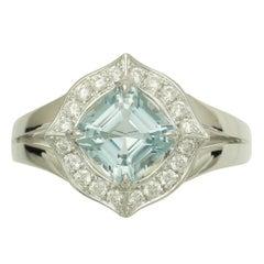 Frederic Sage, Aquamarine and Diamond Ring