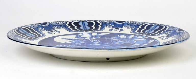 Frederick Alfred Rhead Art Nouveau Pottery Mikado Pattern Charger For Sale 5