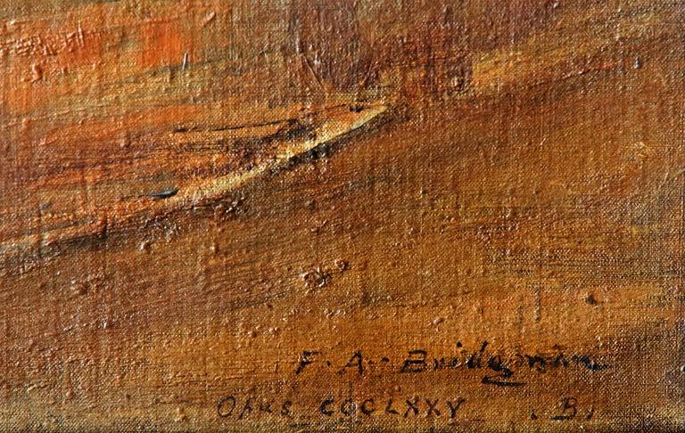 Frederick Arthur Bridgman - Brown Landscape Painting by Frederick Arthur Bridgman