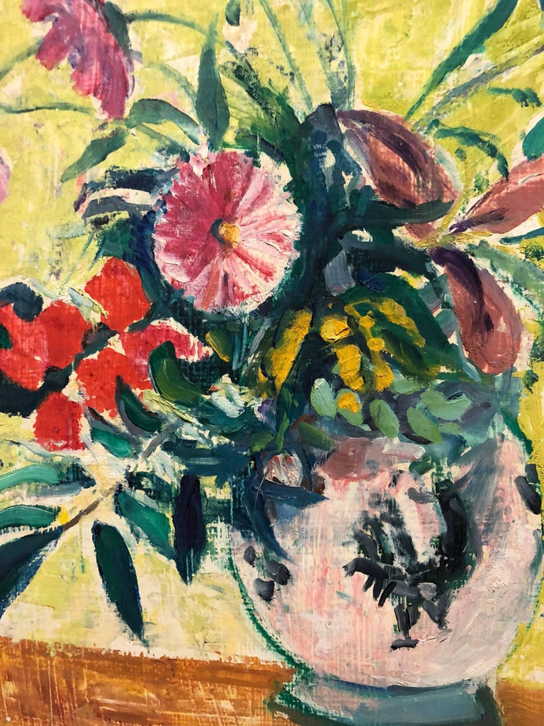French Fauvist Floral Oil Painting For Sale 1