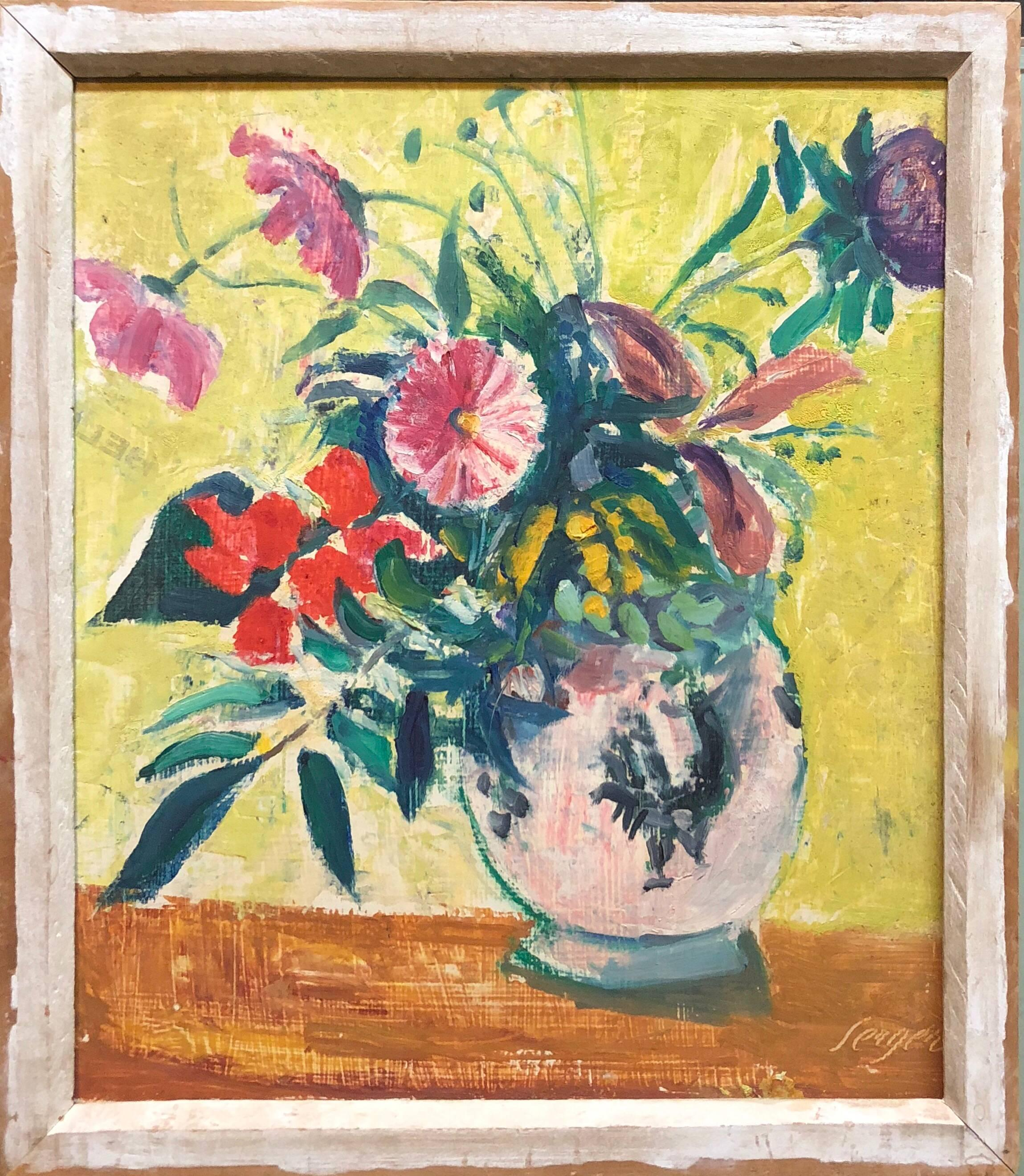 French Fauvist Floral Oil Painting