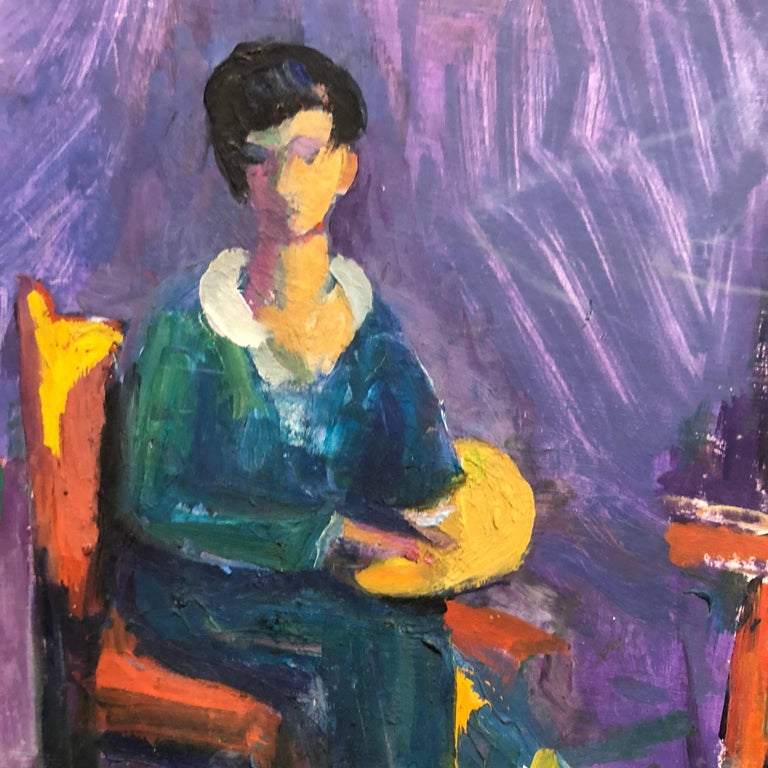 Genre: Impressionist Subject: People Medium: Oil Surface: Panel   Frederick Serger (given name Frederick Bedrick Sinaberger) was born in 1889 to a family of Jewish manufacturers in the village of Ivancice near Brno Moravia, a province of