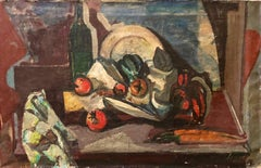 Still Life Fruits and Vegetables French Fauvist Oil Painting