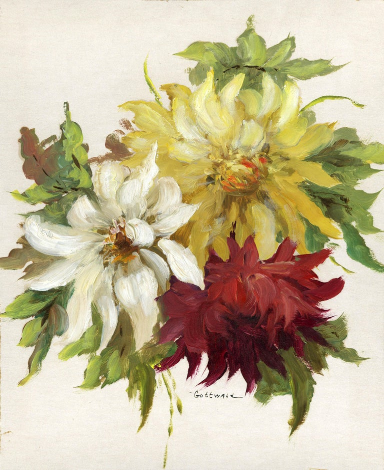 Frederick Carl Gottwald Still-Life Painting - untitled (flowers)