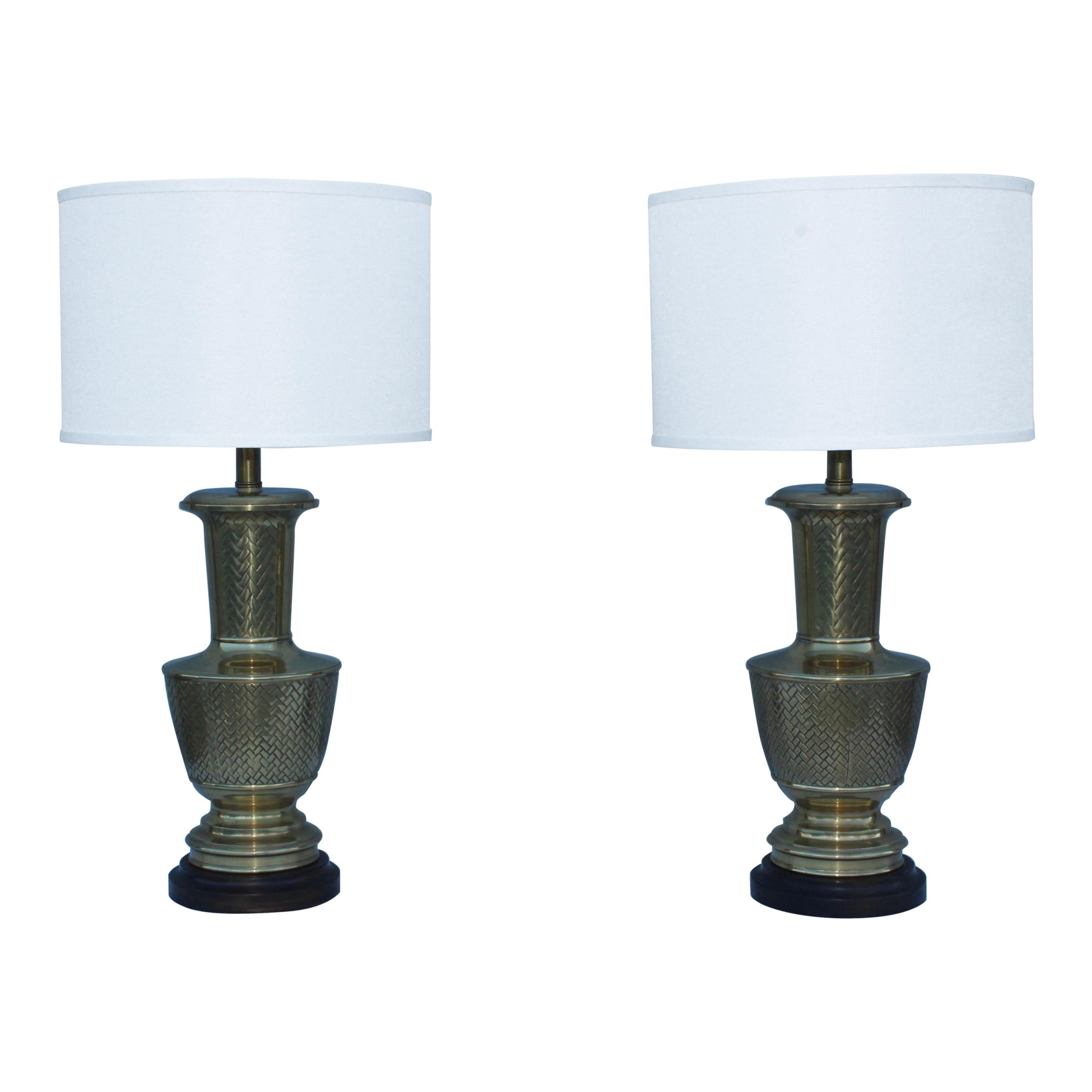 Frederick Cooper Brass Table Lamps