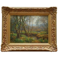 Frederick Golden Short New Forest Woodland Signed and Dated 1920 Oil Painting