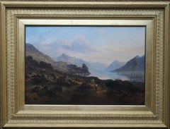 Scottish Loch - British Victorian art landscape oil painting Birmingham artist