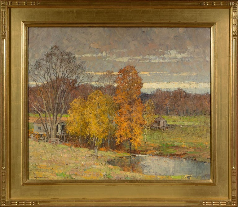 Autumn, Ipswich  - Painting by Frederick J. Mulhaupt