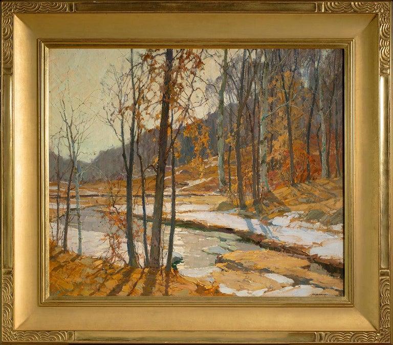 Autumn Landscape  - Painting by Frederick J. Mulhaupt